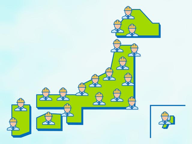 全国136拠点・1,000人体制の運用保守ネットワーク