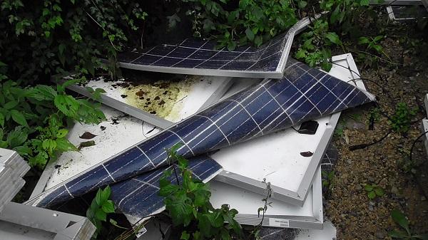 太陽光発電の破損
